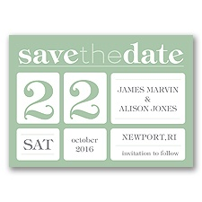 Delightful Date - Meadow - Save the Date Magnet