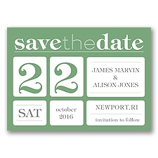 Delightful Date - Clover - Save the Date Magnet