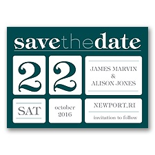 Delightful Date - Gem - Save the Date Magnet
