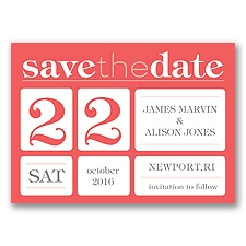 Delightful Date - Guava - Save the Date Magnet