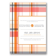 Modern Brights - Tangerine - Invitation