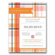Modern Brights - Tangerine - Save the Date