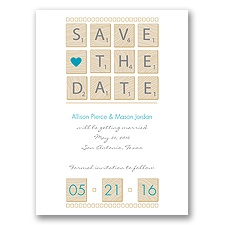 Word Games - Malibu - Save the Date