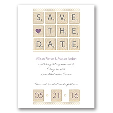 Word Games - Wisteria - Save the Date
