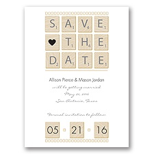 Word Games - Black - Save the Date