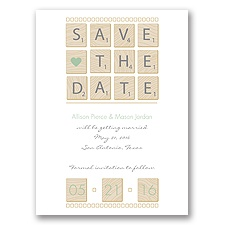 Word Games - Meadow - Save the Date