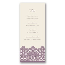 Wrapped In Lace - Menu Card