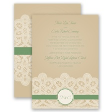 Wrapped In Lace - Clover - Invitation
