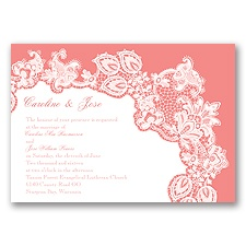 Lacy Delight - Coral Reef - Invitation
