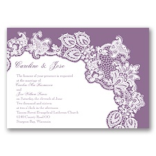 Lacy Delight - Wisteria - Invitation