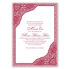 Vintage Romance - Apple - Invitation