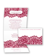 Chantilly Chic Seal and Send - Apple - Invitation