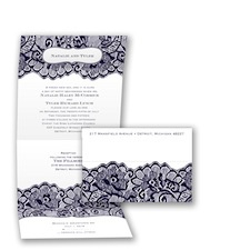 Chantilly Chic Seal and Send - Lapis - Invitation
