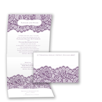 Chantilly Chic Seal and Send - Wisteria - Invitation
