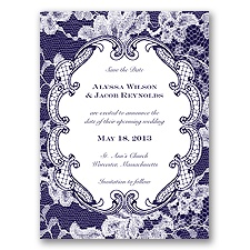 Lace Embrace - Lapis - Save the Date