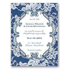 Lace Embrace - Marine - Save the Date