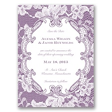 Lace Embrace - Wisteria - Save the Date