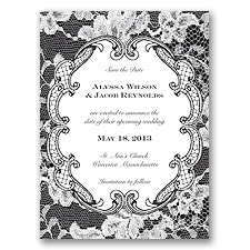 Lace Embrace - Black - Save the Date