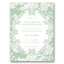 Lace Embrace - Meadow - Save the Date
