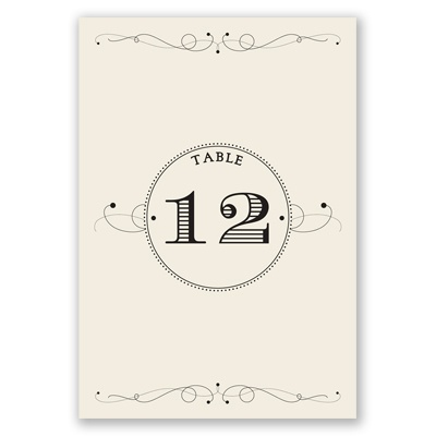Dapper Day - Table Number Card
