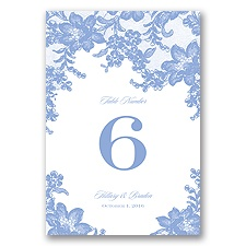 Lace Fantasy - Table Number Card