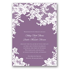Lace Fantasy - Wisteria - Invitation