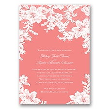 Lace Fantasy - Coral Reef - Invitation