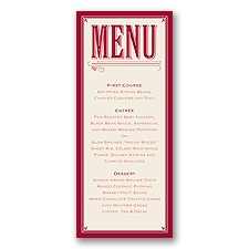 Today is the Day - Apple - Menu Card