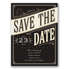 Today is the Day - Black - Save the Date