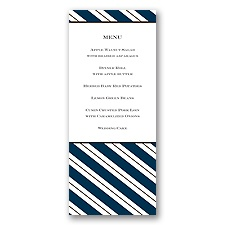 Formal Stripes - Menu Card