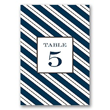 Formal Stripes - Table Number