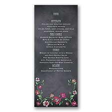 Blooming Chalkboard - Begonia - Menu Card