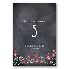 Blooming Chalkboard - Begonia - Table Number