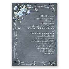 Rustic Bouquet - Bluebird - Invitation