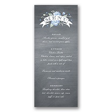 Rustic Bouquet - Bluebird - Menu Card