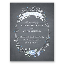 Rustic Bouquet - Bluebird - Save the Date