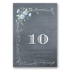Rustic Bouquet - Bluebird - Table Number
