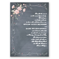 Rustic Bouquet - Blush - Invitation