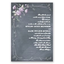 Rustic Bouquet - Wisteria - Invitation
