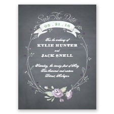 Rustic Bouquet - Wisteria   - Save the Date