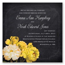 Ravishing Roses - Canary - Invitation