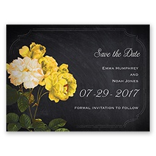 Ravishing Roses - Canary - Save the Date