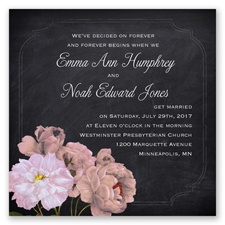 Ravishing Roses - Coral Reef - Invitation