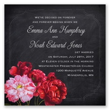Ravishing Roses - Poppy - Invitation