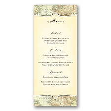Travelers Tales - Menu Card
