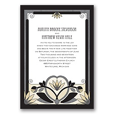 Deco Garden - Black - Invitation