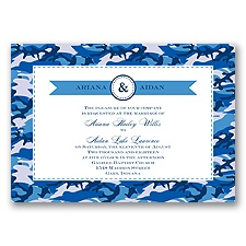 Camo Cutie - Cornflower - Invitation