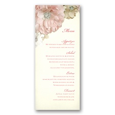Perfect Petals - Menu Card