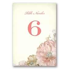 Perfect Petals - Table Number