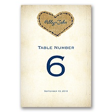 Burlap Heart - Table Number